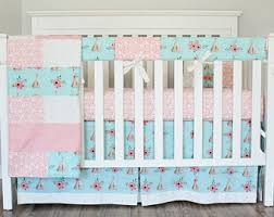 Pink And Blue Crib Bedding Crib Bedding Etsy