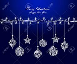 background of christmas lights with decorations royalty free