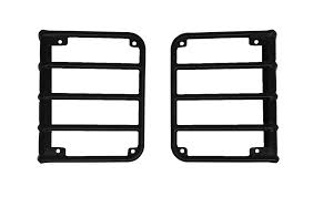 Jeep Jk Tail Light Covers 07 15 Jeep Wrangler Black Euro Stainless Steel Tail Light Guards