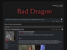 Bad Dragon Bad Dragon U2022 View Topic Forum Future Announcement