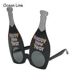 new year supplies 2017 happy new year chagne shaped glasses novelty