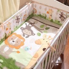 Crib Bedding Monkey 5pcs Baby Crib Bedding Set Lovely Animal Monkey Giraffe Crib