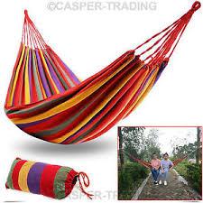 garden hammock lightweight hang bed canvas outdoor camping travel