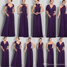 bridesmaid dress cheap purple 2018 bridesmaid dresses convertible high quality