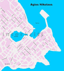 Map Of Crete Greece by Interkriti Maps Of Crete Greece Scanned Map Of Agios Nikolaos Town