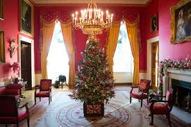 red room at the white house the halls are decked for christmas the new
