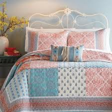 Coral Colored Comforters Buy Patchwork Quilt King From Bed Bath U0026 Beyond