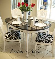 Zebra Dining Chairs Adding A Zebra Never Hurt Anything Pinterest Addict