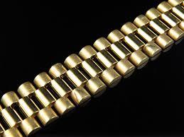 gold bracelet styles images Men 39 s rolex style bracelet in solid 10k gold 14 mm jpg