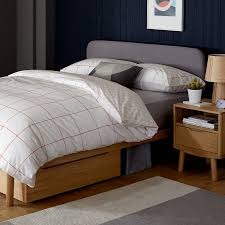 house by john lewis bow upholstered headboard bed frame