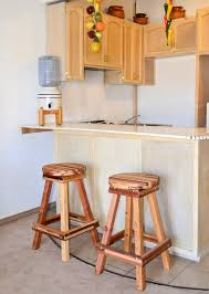 Barstool Cushions Backless Wooden Bar Stool Custom Made Redwood Stools