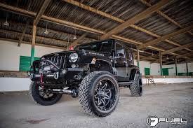 jeep wrangler unlimited wheel and tire packages 22 fuel wheels d567 lethal black milled rims fl027 4