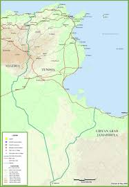 Physical Maps Tunisia Physical Map