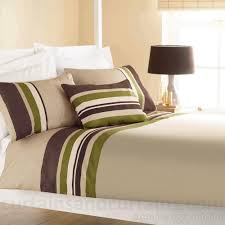 yale lime green brown striped print duvet cover stripe print