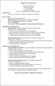 Resume Sample Objectives For Internship by Resume Examples Umd