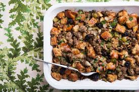 italian sausage stuffing recipes for thanksgiving challah sausage and dried cherry stuffing recipe epicurious com
