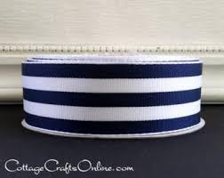 navy blue and white striped ribbon blue striped ribbon etsy