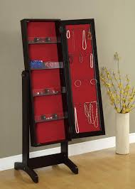 furniture hidden wall mount mirror jewelry armoire with shelves