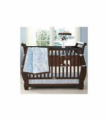 Brown Baby Crib Bedding S Blue Elephant 4 Baby Crib Bedding Set
