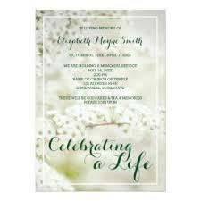 funeral service announcement wording celebration of invitations announcements zazzle