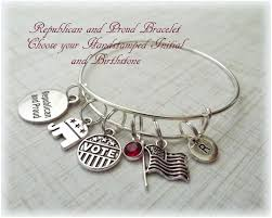 election charm bracelet personalized gifts gifts for her gifts