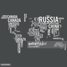 world map with countries name world map illustrated with countries names on blackboard