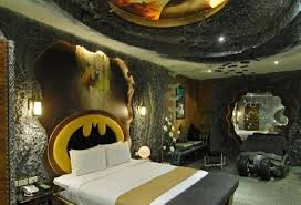 bedroom batman bedroom ideas using back wooden shelves and boxes