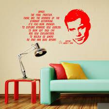Schlafzimmer Wandtattoo Klassische Mode Star Trek James T Kirk William Shatner Zitat Vinyl