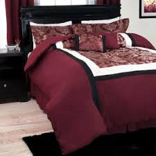 Maroon Comforter Mytex Home Fashions Bailey 7 Piece Gray White Queen Comforter Set