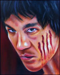 bruce lee painting by phil robertson original art