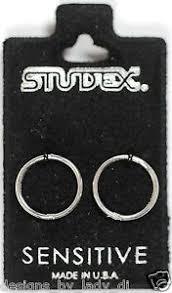studex sleepers smooth sleepers hinged 925 silver hoop earrings studex sensitive