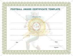 football award certificate template certificate template