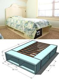 Build Platform Bed Platform Beds With Storage Easy To Build Platform Beds For