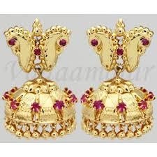 kerala style jhumka earrings kerala desig necklace choker jhumka earrings saree