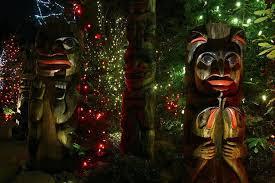 photo essay christmas lights at capilano suspension bridge