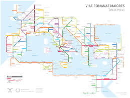 Road Map Of America by A Tube Style Map Of Roman Roads Big Think