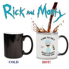 light magic mug rick and morty mugs 350ml color changing mug cold