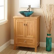 Bamboo Bath Vanity Cabinet Bathroom Natural Wood Bathroom Vanity Cabinet With Storage Drawer