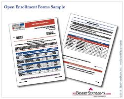 Total Compensation Statement Template by Open Enrollment Forms Employee Benefit Statements Total