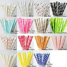 wholesale party supplies wholesale new paper straws for kids birthday wedding decoration