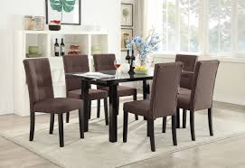 Casual Dining Room Sets Kassa Mall Home Furniture F2370 F1595 7 Pcs Chocolate Casual