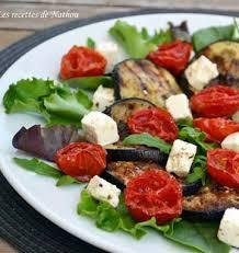cuisiner les tomates cerises salade d aubergines grillées au balsamique tomates confites et feta