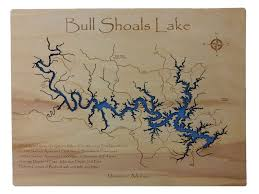 Wisconsin Lakes Map by Wooden Lake Maps Wood Carved Lake Maps