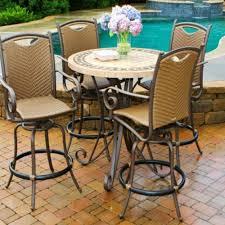 tall swivel chair patio dining setswivel rocking set sling