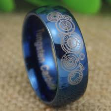 doctor who wedding ring doctor who time lord shiny blue dome wedding ring inspiring wave
