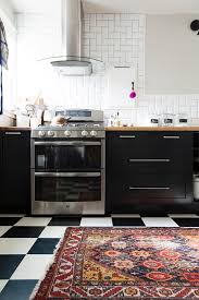 Black Kitchen Rugs Touring Shavonda Gardner S Eclectic Home Classic Rugs Kitchens