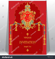 Invitation Card Samples Indian Invitation Card Templates Gold Lord Stock Vector 549239353