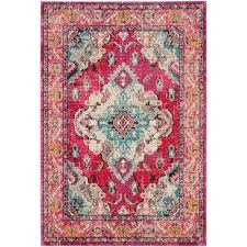 border pink 5 x 8 area rugs rugs the home depot