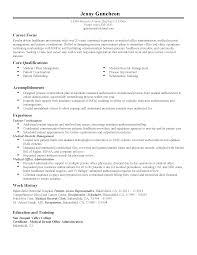Resume Template Open Office Medical Office Resume Resume Cv Cover Letter