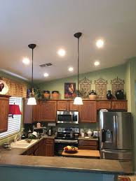 What Size Can Lights For Kitchen Stunning Az Recessed Lighting Installation Of Leds In Kitchen How